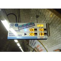 China High Definition Panel Mount Electronic Information System For Paris Metro Line 13 on sale