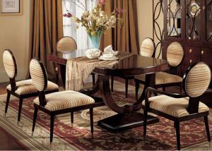 China Custom Luxury Dining Room Furniture Sets 180cm Wood Rectangular Dining Table on sale