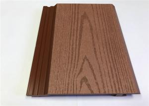 China Lightweight Exterior WPC Wall Cladding , Outdoor Wood Grain Recycled Plastic Cladding on sale