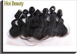 China Ear to Ear Lace Top Closure Natural Black 1b# Loose Wave Brazilian Remy Hair on sale