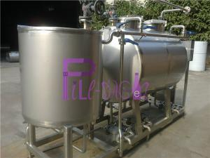 China Semiauto CIP Cleaning System 500L Tank For Dairy / Beer / Beverage Processing Line on sale