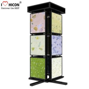Quality Metal Mosaic Ceramic Tile Displays For Showrooms 4 Sided Display Stand