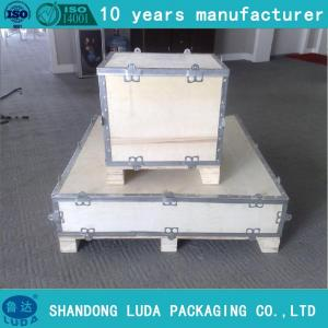 China folding boxes for machine , accessories wood packing box on sale