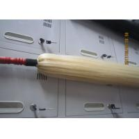 Natural Red Wood / True Horse Tail Fly Whisk 75cm White Hair Length