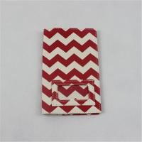Woman Canvas Wallet And Card Holder Special Design With Red Wavy Pattern