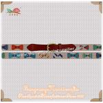 ZONGRONG HANDICRAFTS005 Bow Ties Needlepoint Belt