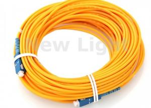 China Single Model 9 / 125 Fiber Optic Jumper Cables / SC SC Fiber Patch Cord 100 Meters Length on sale