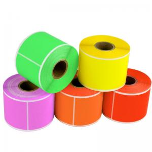 China Thermal Paper Self Adhesive Sticky Labels Test And Tag Heat Resistant Anti Fake on sale