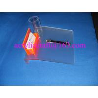 Frosted acrylic desktop calendar stand with name card holder & pen holder