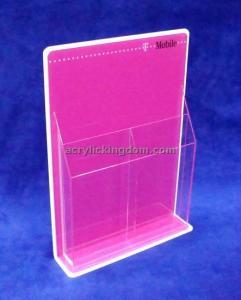 China clear acrylic brochure holder on sale