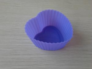 China Purle Cute Heart Food-grade Silicone Baking Moulds for Brownies , Flexible Candle Mold,Silicone Soap Mold on sale