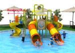 OEM Water Park Equipment  710*645*400cm , Water Slide Equipment 16 CBM