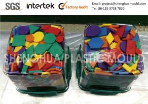 China Custom Injection Molding plastic Puzzles Packaged Acrylonitrile Butadiene Styrene Various Shapes Colors on sale