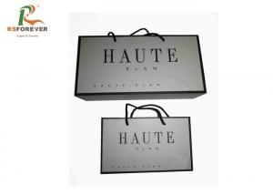 China Luxury Paper Shopping Custom Printed Bags For Clothing Packaging Rope Handle on sale
