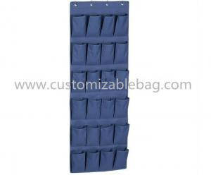 China Fashion Blue Non Woven Storage Boxes 24 Pocket Over Door Shoe Organizer on sale