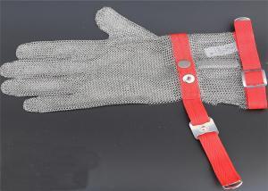 China Extended Safty Mesh Stainless Steel Gloves For Butcher Working , XXS-XL Size on sale