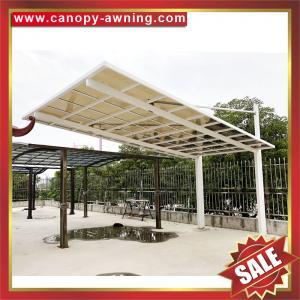 China excellent outdoor hauling pc polycarbonate aluminium aluminium parking car port shelter canopy cover shield carport on sale