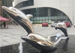 Lifelike Life Size Stainless Steel Dolphin Sculpture for Water Fountain