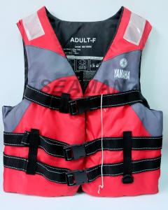 China Nylon Polyester Red / Grey YAMAHA Life Jacket Water Sport Foam Life Vest on sale