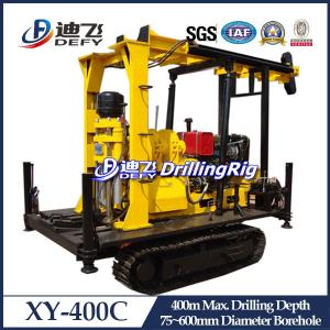 China New Arrival! XY-400C Crawler Mounted Hydraulic Well Drilling Rig, 400m Water Well Drilling on sale