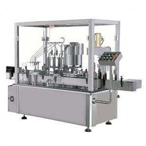 China Glass And Plastic Milk Bottle Liquid Filling Machine , Air Jet Bottle Washing Machine on sale