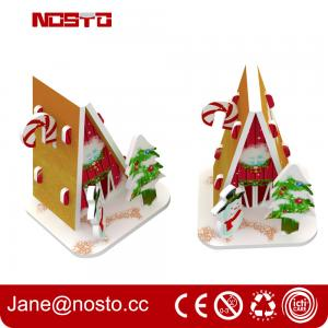China Merry christmas 3d puzzle for Christmas hanging as miniature puzzle on sale