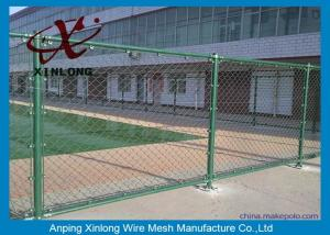 China Custom Green Fence Chain Link , Diamond Wire Mesh Strongly 1.8-4.5mm on sale
