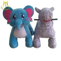 China Hansel  amusement game blue elephant riding toys for kids safari animal motorcycle on sale