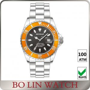 China Automatic Movement Deep Sea Diving Watches , 100ATM Sapphire Glass Watch on sale