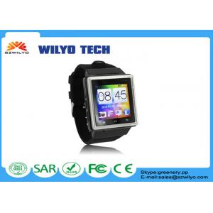 China 1.54 Inch MT6577 Android Wear Watches WCDMA 3g Single Sim Card WS06 2Mp Gps on sale