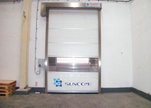 China LED Screen Galvanized Steel Folding Shutter Doors External / Internal on sale