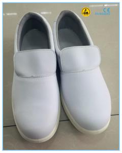 China high quality white color microfiber leather upper PU outsole cleanroom ESD white safety shoes on sale