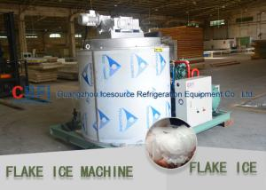 China Stainless Steel Evaporator Flake Ice Machine Commercial For Aquatic / Meat Freshing on sale