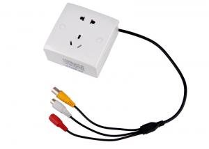 China 3.7mm0.5 lux  white light hidden wall socket camera with night vision infrared on sale