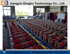 China Galvanized Board Roof Panel Roll Forming Machine Automatic Control System on sale