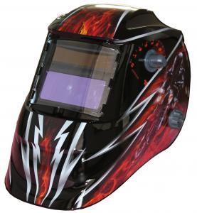 China Custom LCD Auto Tinting Welding Helmet , Metal Man Auto Darkening Welding Mask on sale
