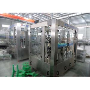 China Carbonated Drink Bottle Filling Capping And Labeling Machine , Automatic Water Filling And Capping Machine on sale