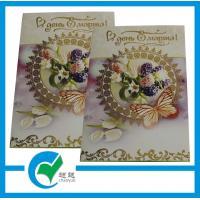 China Ecoの友好的で多彩な祝祭の天恵のきらめきの粉が付いている折る印刷の挨拶のカード・ストック ペーパー on sale