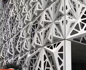 Popular Carved Curtain Aluminium Wall Cladding Panels Hotel Exterior