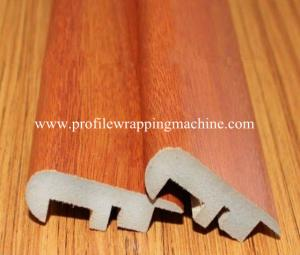 China Decorative Melamine Wood MDF Skirting Board wrapping machine on sale