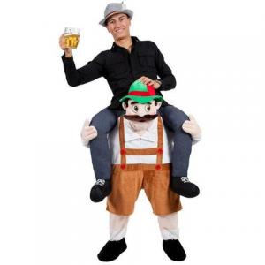 China Adult Ride On Stag Mascot  Animal Mascot Costumes Bavarian Oktoberfest on sale