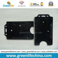 Black Hard Plastic Card Case One-Side Open Business Card Holders