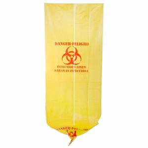 China 37 X 50 Yellow Infectious Waste Bags , HDPE Material Medical Waste Disposal Bags on sale