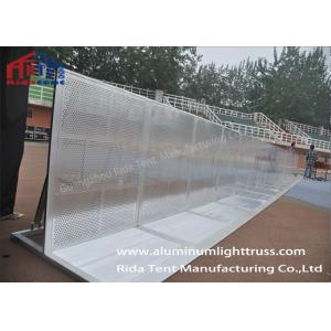 China Heavy Duty Pedestrian Control Barriers6061-T6 Aluminum Millfinish Silver Surface on sale