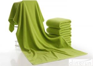 China Luxury Bath Towels Green Color , Beach Hotel Bath Towels Durable on sale
