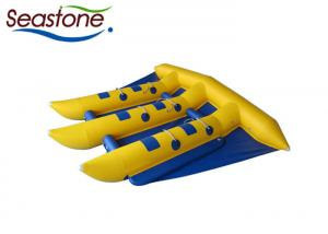 China Outdoor Flying Fish Inflatable Towable , Flying Banana Boat Ride Blue Color on sale