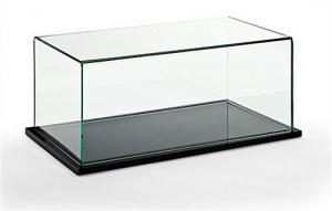 China Acrylic Pedestal Clear Jewelly Display Case Black Wooden Base Virgin on sale