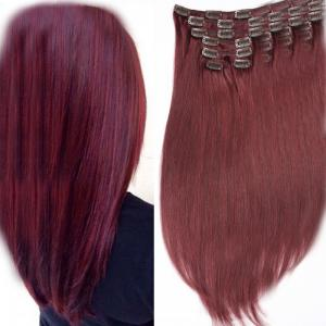 China African Malaysian Hair Extensions 100 Human Hair Clip In Hair Piece Milky Way on sale