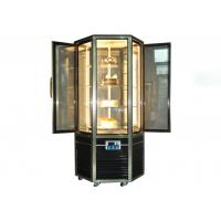 Hexagonal Glass Door Cake Showcase Upright Rotating Cake Display Cooler 4~8℃