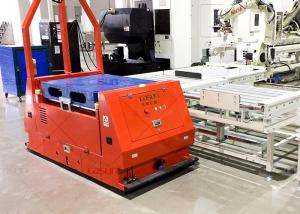 China 2T Payload Laser Guided AGV , Roller Platform AGV With Front Obstacle Sensor on sale